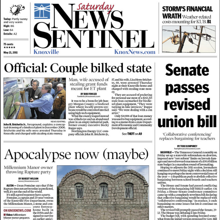 PERM Advertising Knoxville News Sentinel
