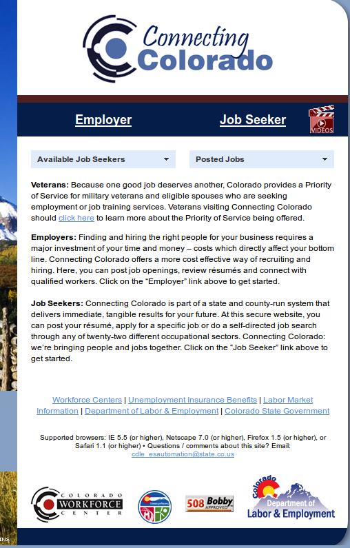 Colorado SWA Job Order PERM Ads Immigration Advertising