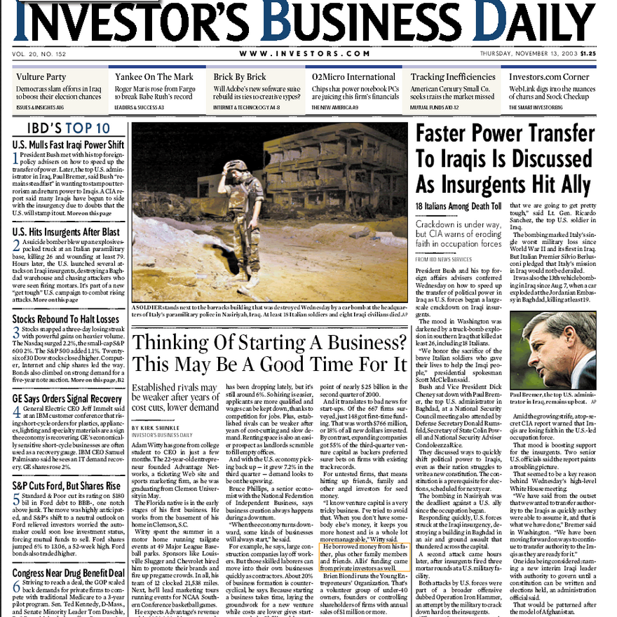 PERM Advertising Investor's Business Daily